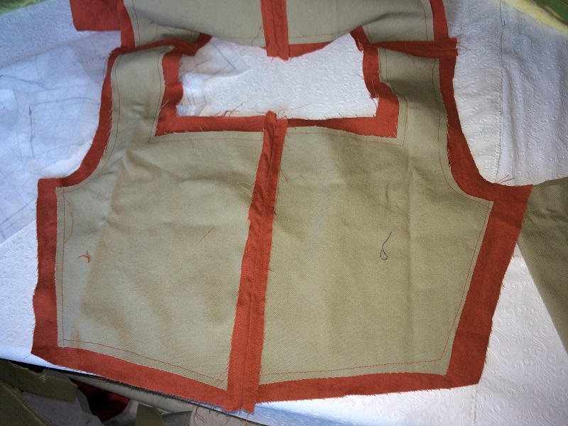 1500s Reproduction Madder Tudor Kirtle Lining