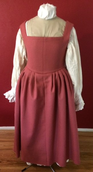 Reproduction Madder colored Tudor dress.