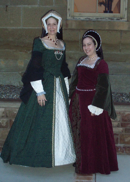 Cate and Kim at GBACG Tudor Feast 2009.