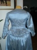 Reproduction 1792 blue silk jacket: back view