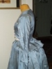 Reproduction 1792 blue silk jacket: left view
