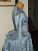 Reproduction 1792 blue silk jacket: right view