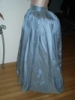Reproduction 1792 blue silk petticoat: left view