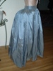 Reproduction 1792 blue silk petticoat: right view