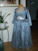 Reproduction blue silk zone front gown