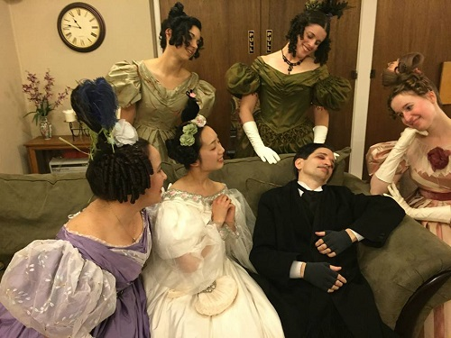 1830s Hopeless Romantics at PEERS March 2015 with Poe. Photo by Vivien Lee.