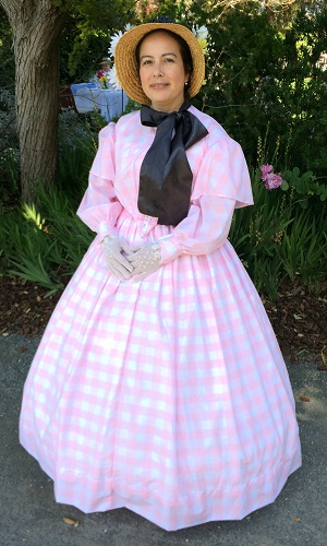 Reproduction Pink Sheer Victorian Day Dress