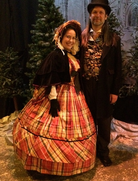 Kim and David at Dickens Fair 2015.