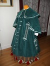 Reproduction Mid-Victorian Cloak/Coat blue corderoy left