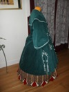 Reproduction Mid-Victorian Cloak/Coat  blue corderoy right