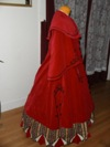 Reproduction Mid-Victorian Cloak/Coat  red velveteen right