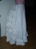 Reproduction bustle petticoat: right view