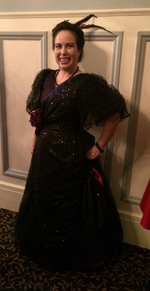 1890s Reproduction Black Tulle Ball Gown Dress. PEERS Le Bal des Vampires October 2016.