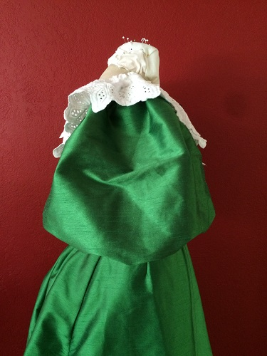 1890s Reproduction Green Ball Gown Bodice Right.