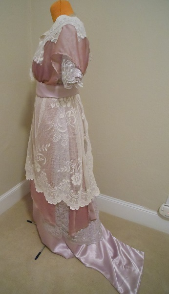 Reproduction 1910s Evening Dress Left - Lavender and Lace. Laughing Moon #104