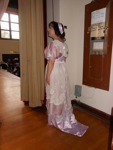1910s reproduction dress lavendar lace