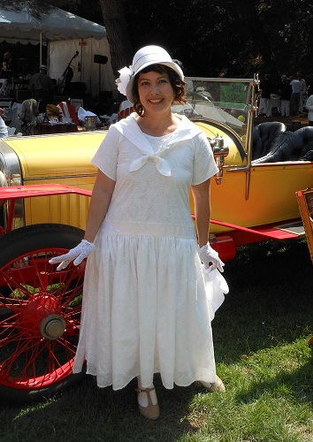 1920s reproduction white sailor day dress