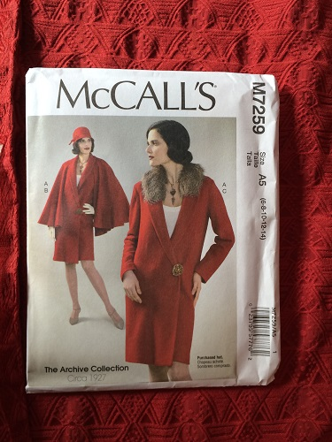McCall's 7259 Pattern and fabric