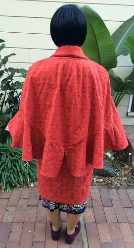 1927 Reproduction Red Coat with Capelet Back