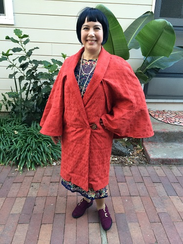 1927 Reproduction Red Coat with Capelet Front