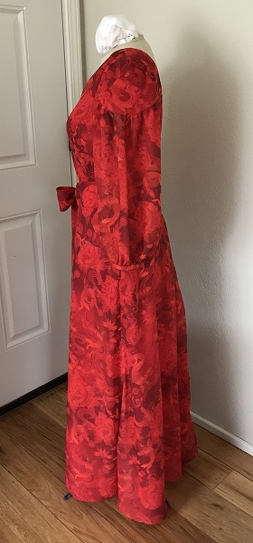 1927 Reproduction Red Koi Dress Left.