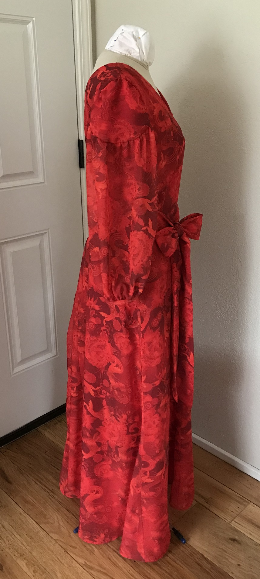 1927 Reproduction Red Koi Dress Right.