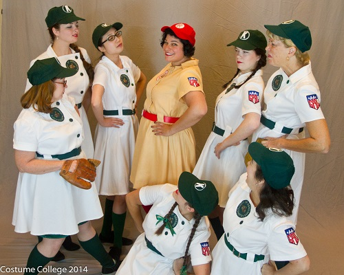 AAGPBL reproduction uniforms, Kenosha and a Peach