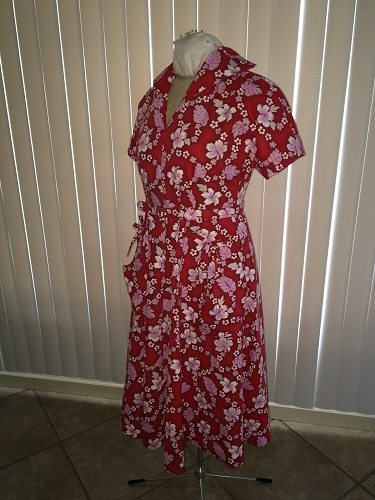 1950s reproduction retro Red Hawaiian Dress