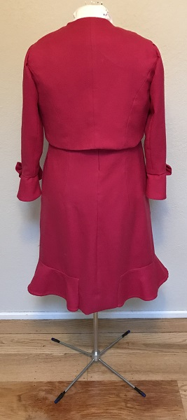 Dolores Umbridge Hot Pink Dress 1960s Style Back.
