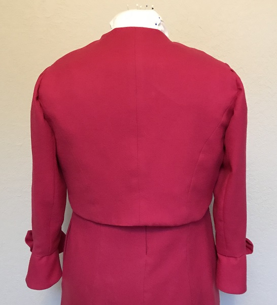 Dolores Umbridge Hot Pink Shrug 1960s Style Back.