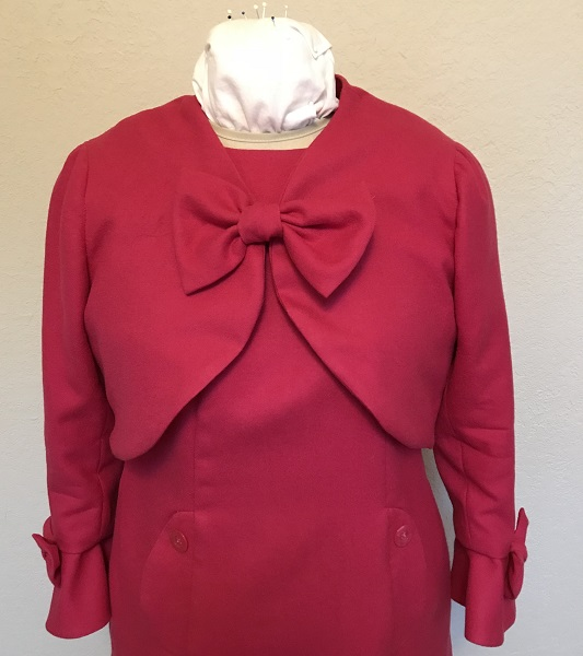 Dolores Umbridge Hot Pink Shrug 1960s Style Front.