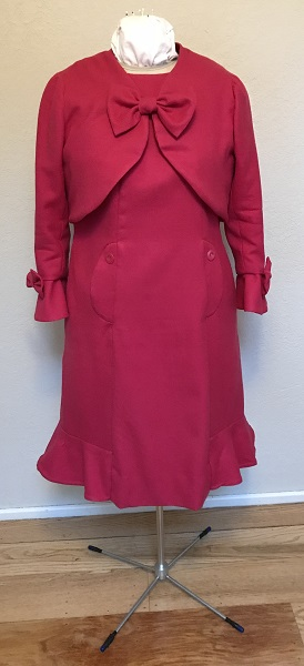Dolores Umbridge Hot Pink Dress 1960s Style Front.