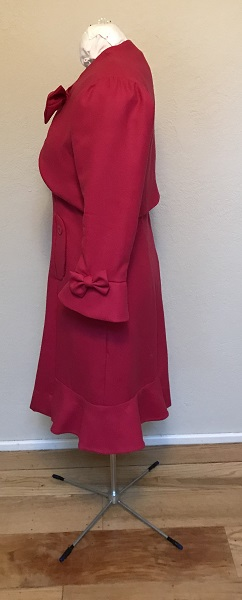 Dolores Umbridge Hot Pink Dress 1960s Style Left.