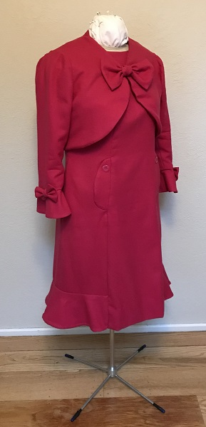 Dolores Umbridge Hot Pink Dress 1960s Style  Right Quarter View.