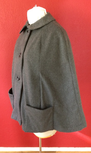 1960s reproduction gray fleece cape