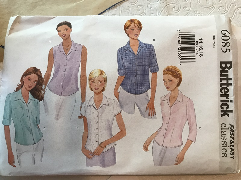 Butterick 6085 Misses' Shirt Pattern
