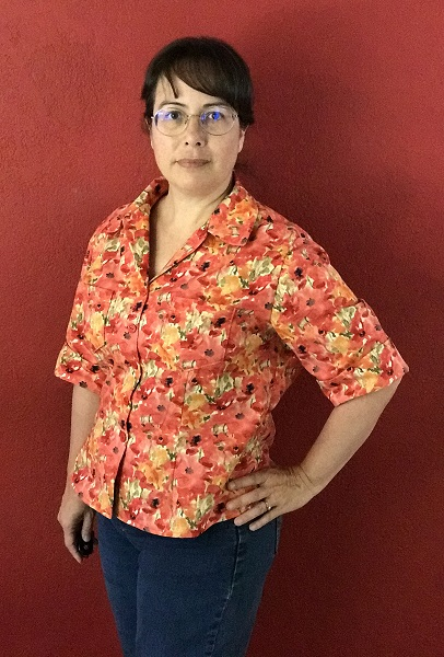 Butterick 6085 Misses' Poppy Shirt Left 3/4 View