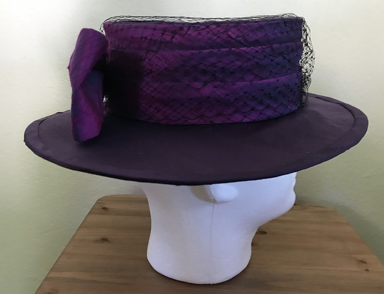 Reproduction Edwardian Purple Hat Butterick B6397 View C Right.