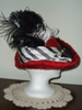 Reproduction Red Silk Tall Hat by Lynne Taylor: right view