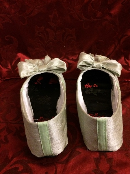 Reproduction Regency Ice Green Dance Slippers Back