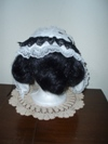 reproduction 1840s Victorian day cap with ears back