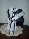 reproduction 1840s Victorian day cap with ears left