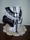 reproduction 1840s Victorian day cap with ears right