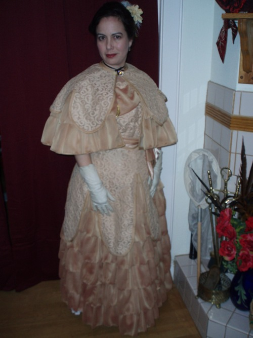 Madame Trepidovska Reproduction Inspired by 1900 Ladies' Evening Costume: front