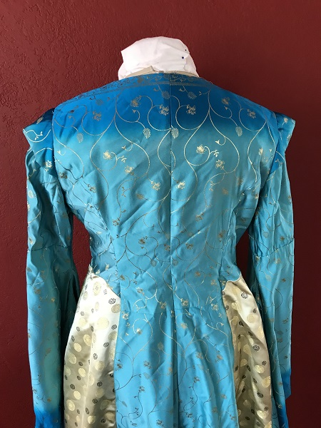 Game of Thrones Blue Bodice Back.