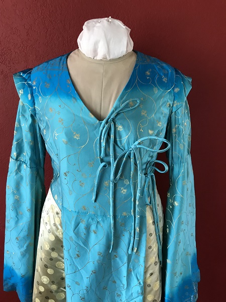 Game of Thrones Blue Bodice Front.