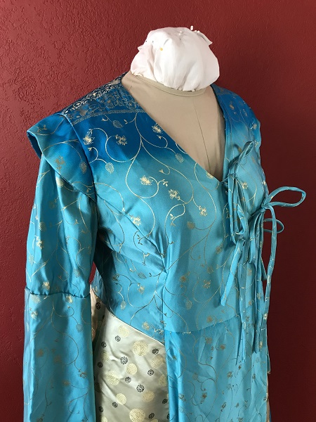 Game of Thrones Blue Bodice Right Quarter View.
