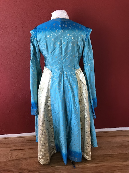 Game of Thrones Blue Dress Back.