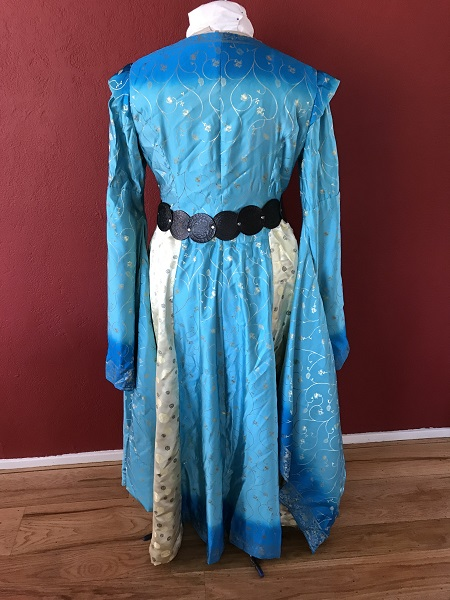 Game of Thrones Blue Dress with Belt Back.