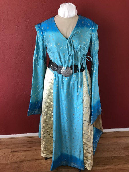Game of Thrones Blue Dress with Belt Front.
